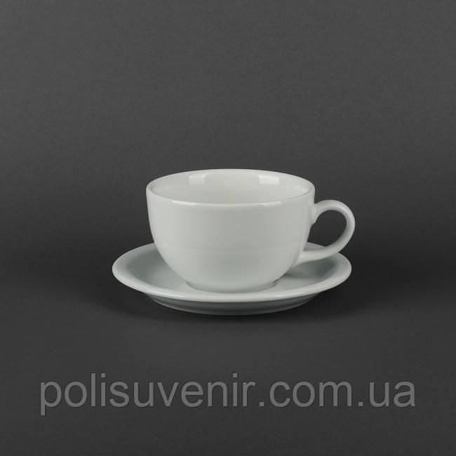Чашка Америка 350 мл з блюдцем 165 мм