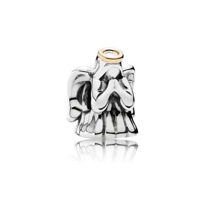 Серебряный Шарм Пандора ЧУДЕСНЫЙ АНГЕЛ серебряно-золотая Бусина 791770