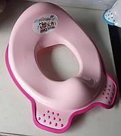 Наладки детские, сиденье, адаптер для унитаза, сидушки, вставка детская, кружок Irak Plastik СМ 240 розовая
