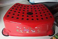 Підставка під унітаз умивальник табурет дитячий червоний, фото 1