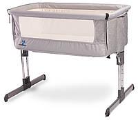 Детская кроватка Caretero Sleep2gether Grey, фото 1