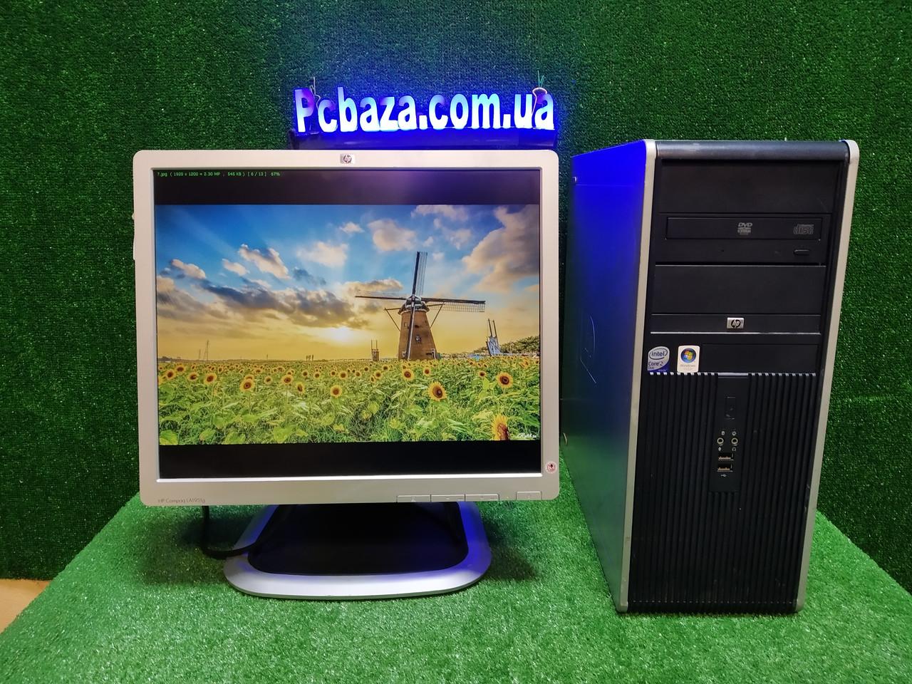 """ПК HP + мон 19"""", Intel E7500 2.93 Ггц, 4 ГБ, 160 ГБ Налаштований! Є Опт! Гарантія!"""