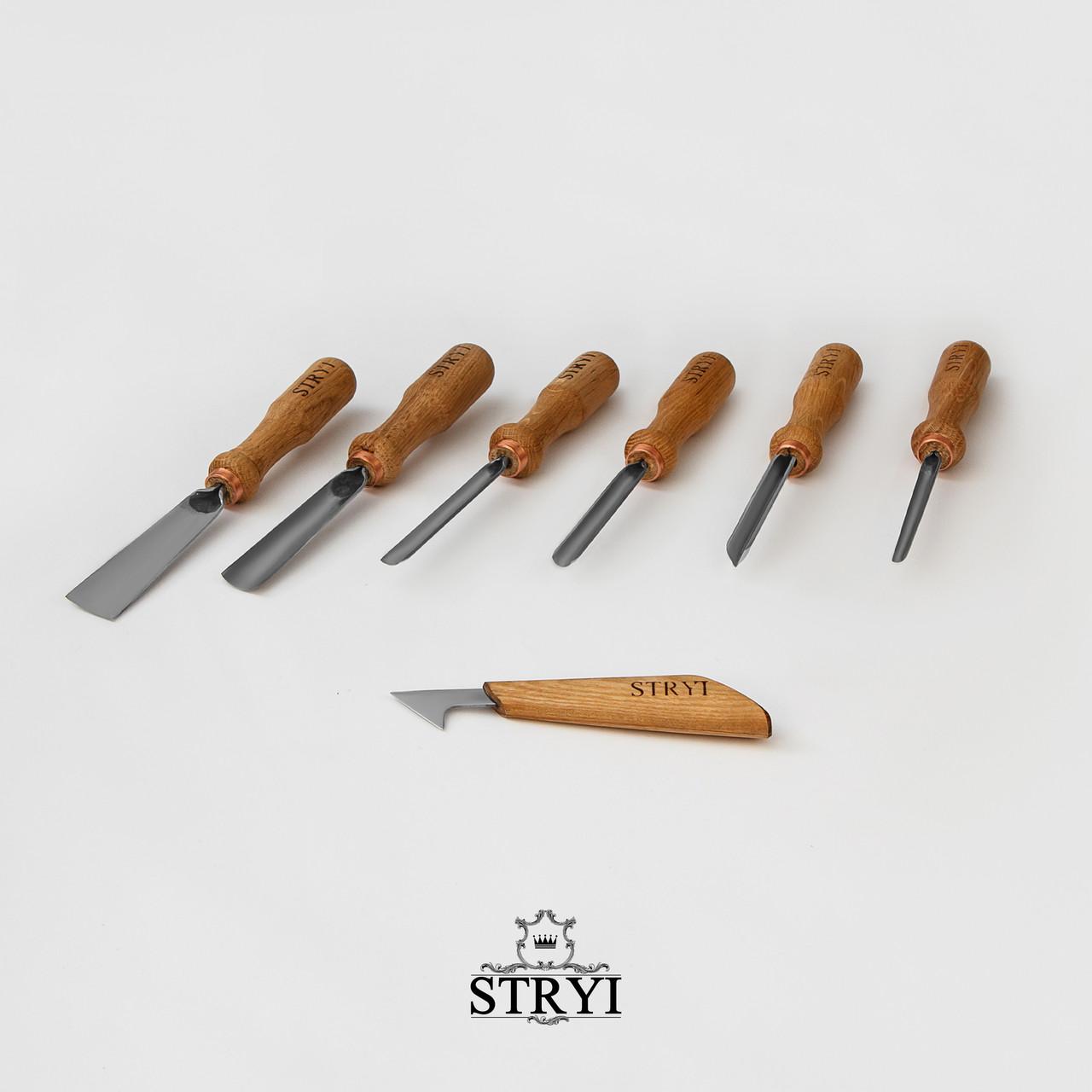 Набор стамесок для резьбы по дереву от производителя, 7 шт