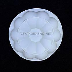 Силиконовая форма для евродесерта Цветок (белая)