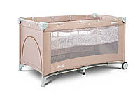 Детская кровать манеж Caretero Basic Plus Beige