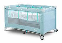 Детская кровать манеж Caretero Basic Plus Blue, фото 1