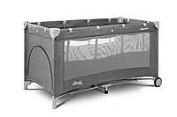 Детская кровать манеж Caretero Basic Plus Graphite, фото 1