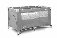 Детская кровать манеж Caretero Basic Plus Grey, фото 1