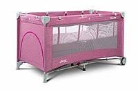 Детская кровать манеж Caretero Basic Plus Lavenda