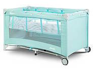 Детская кровать манеж Caretero Basic Plus Mint, фото 1