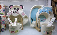 Набір з бамбуку дитячий з 5 приладів