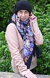 Цветочная сказка 1458-14, павлопосадский платок шерстяной  с шерстяной бахромой, фото 4