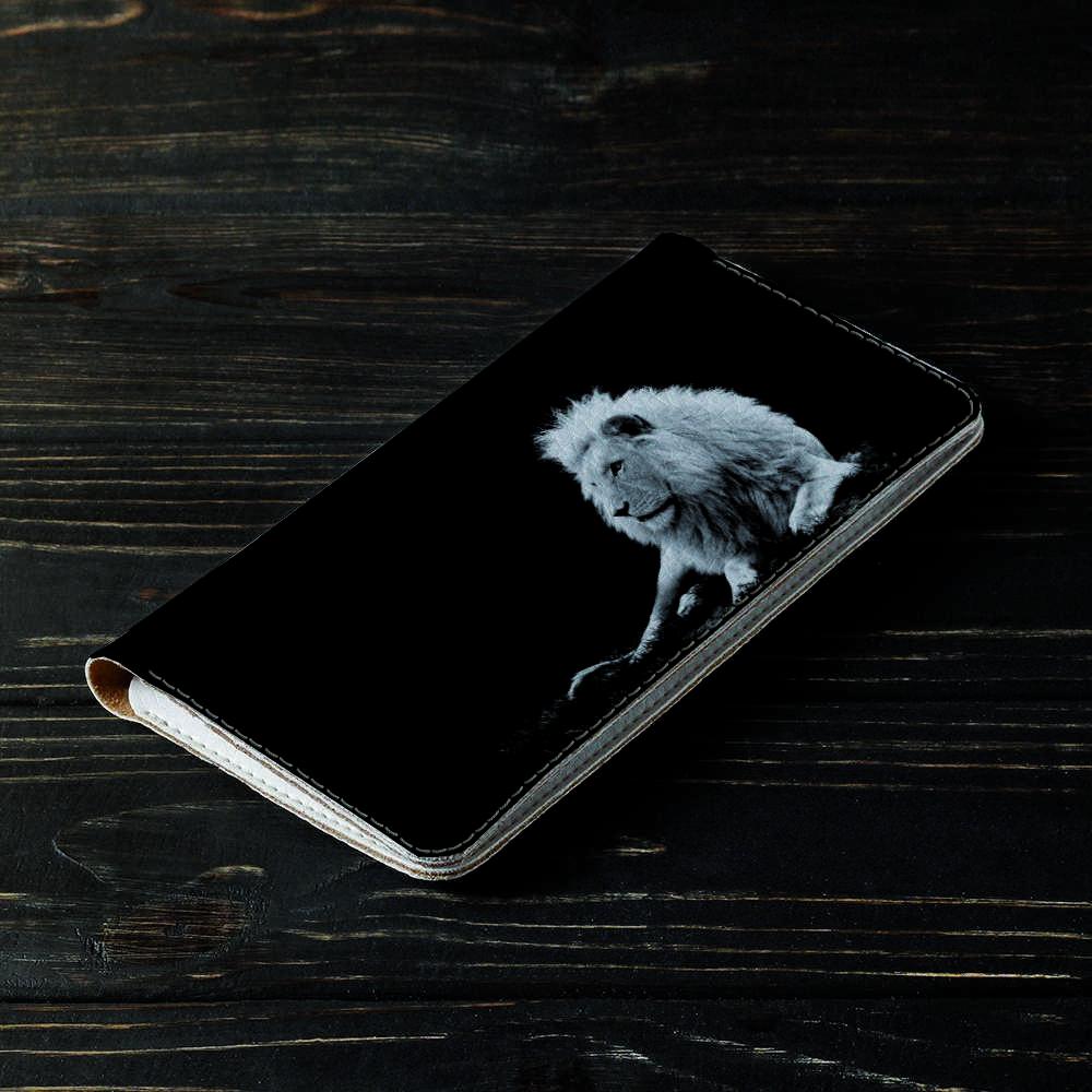 Портмоне v.2.0. Fisher Gifts 190 Белый лев в темноте (эко-кожа)
