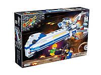 Конструктор BANBAO 6403 космічний корабель, світло, 522 дет., фігурки 3 шт., кор., 45-35-7 см