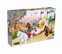 Конструктор BANBAO 8267 лицарі, карета, коні, 195 дет., фігурки 4 шт., кор., 33-24-7 см