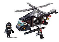 Конструктор SLUBAN M38-B1800 ПОЛИЦИЯ -  Вертолет (219 дет.)