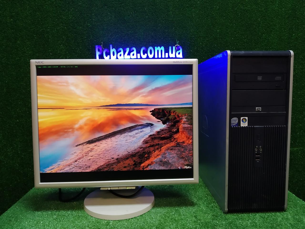"""ПК HP + мон 22"""" PVA NEC, Intel E7500 2.93Ггц, 4 ГБ, 160 ГБ Настроен! Для длительной работы за компьютером"""