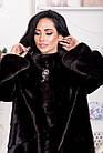 Шуба Норковая Черная 100 см Канадская Стойка 100/125  0554ЕИШ, фото 4