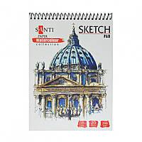 Альбом для акварелі А5 20арк Travelling Paper Watercolour Collection 200г/м2 Santi (5), фото 1