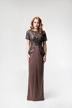 Платье шоколад VH, коричневого цвета