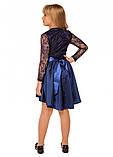 Нарядное платье с гипюровым верхом для девочки 134-140р, фото 3
