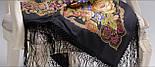 Радоница 920-18, павлопосадский платок (шаль) из уплотненной шерсти с шелковой вязанной бахромой, фото 7