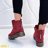 Ботинки 39,40 размеры  тимбер зимние мартинсы марсала К2025-1, фото 2