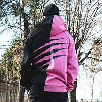 Худи унисекс Пушка Огонь Scratch черно-розовое, фото 1