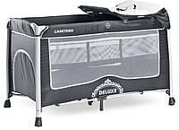 Детская кровать манеж Caretero Deluxe Graphite