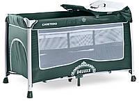 Детская кровать манеж Caretero Deluxe Green