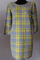 Платье женское клетка с пуговками на рукавах, фото 1