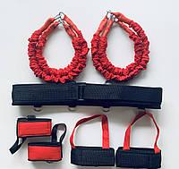 Тренажер Fight Belt (бойцовский пояс) красно черный