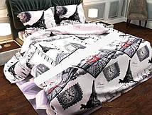 Двухспальный постельный комплект Париж-города