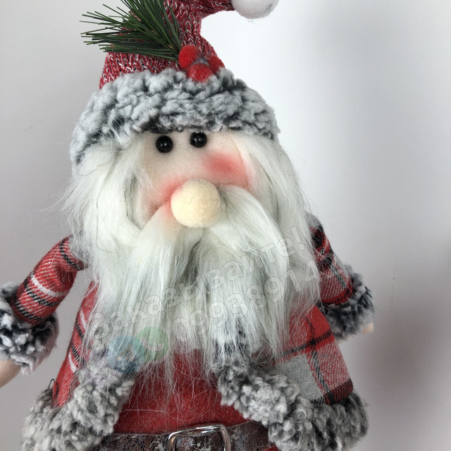 Дед Мороз игрушка Санта Клаус под елку 2-2