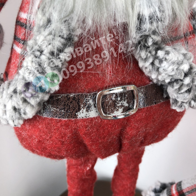 Дед Мороз игрушка Санта Клаус под елку 2-4