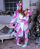 Пижама кигуруми единорог радужный космос со звездами kig0070