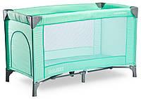 Детская кровать манеж Caretero Basic Green