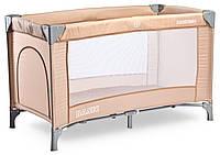 Детская кровать манеж Caretero Basic Beige