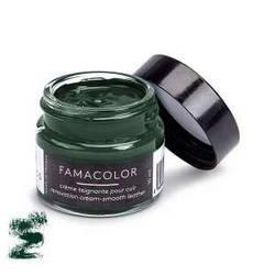 Жидкая кожа темно-зелёный  для обуви и кожаных изделий Famaco Famacolor, 15 мл