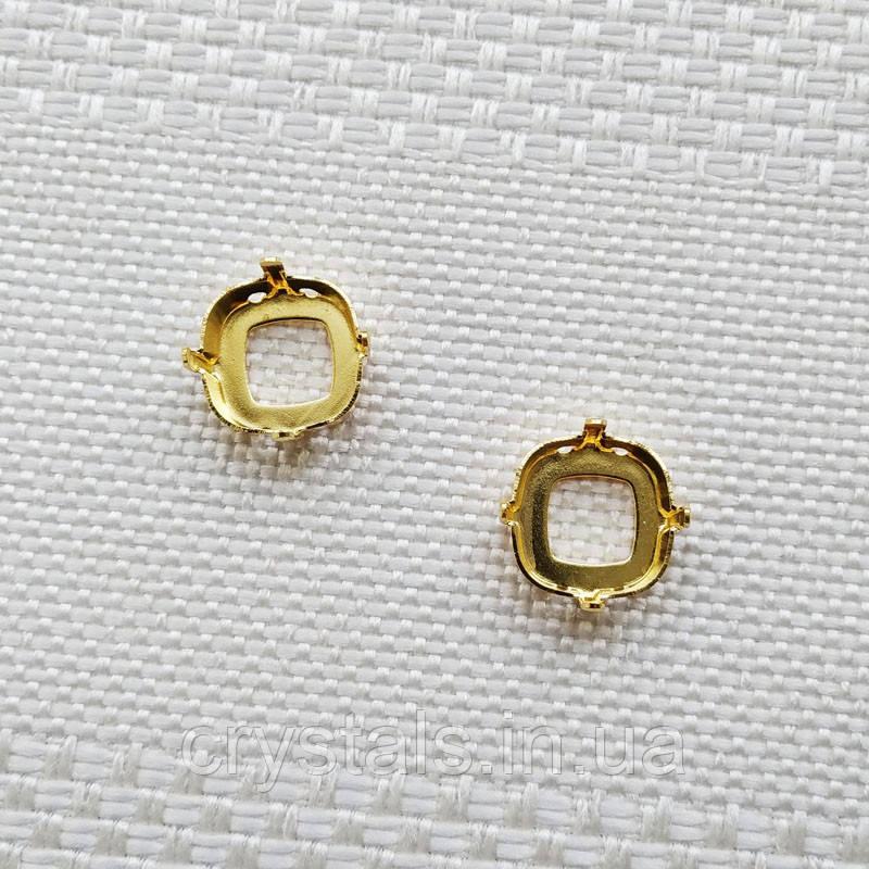Оправа для квадрата 12 мм, Германия, цвет золото