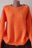 Кофта женская вязка косичка, фото 1