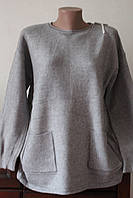 Кофта женская с карманами удлиненная, фото 1