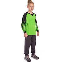 Футбольная форма вратарская детская Свитер и штаны вратаря для детей SP-Sport CIRCLE Зеленый (LM7607) 24, фото 1