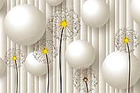 Фотообои на флизелиновой основе - Одуванчики с шарами 3Д (ширина рулона -1,03м)