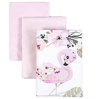 Сменный постельный комплект Veres Flamingo pink 3ед