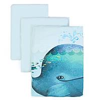 Сменный постельный комплект Veres Menthol whale 3 ед.
