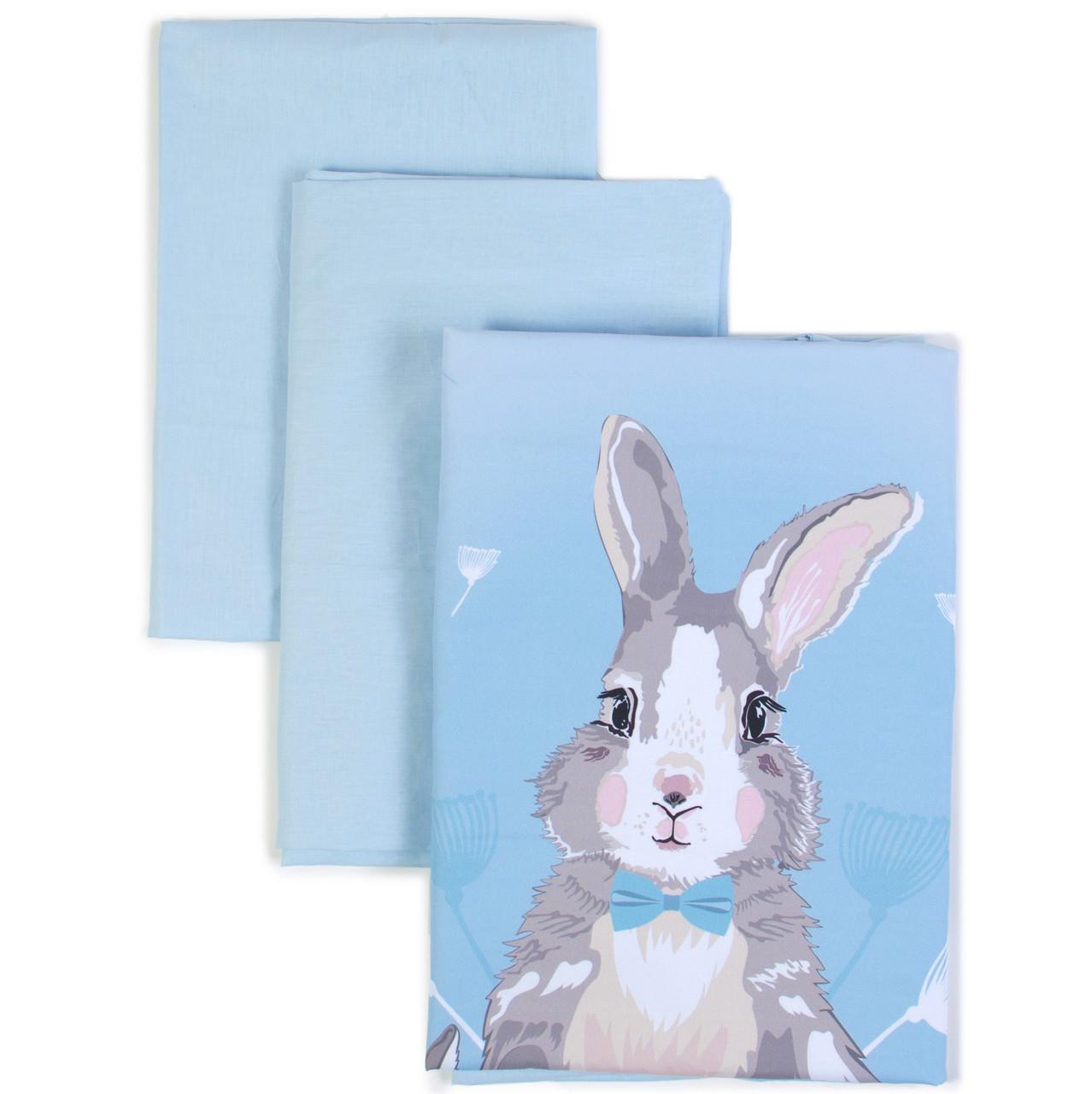 Сменный постельный комплект Veres Summer Bunny blue 3 ед.