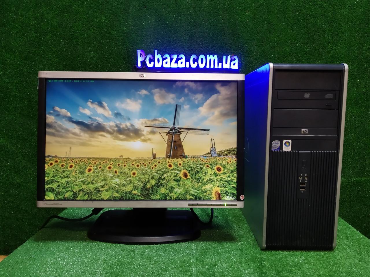 """ПК HP + мон 22"""" HP, Intel 4 ядра, 4 ГБ, 160 ГБ Настроен! Есть Опт! Гарантия!"""