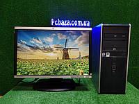 """ПК HP + мон 22"""" HP, Intel 4 ядра, 4 ГБ, 160 ГБ Настроен! Есть Опт! Гарантия!, фото 1"""