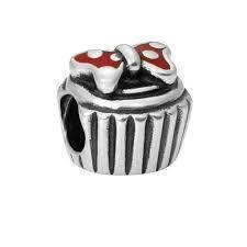"""Серебряный шарм бусина в стиле Pandora """"Рождественский торт"""" 925 проба, фото 2"""